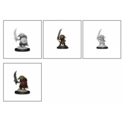 Pathfinder Battles Deep Cuts Unpainted Miniatures - Goblin Fighter Male (6 Units)