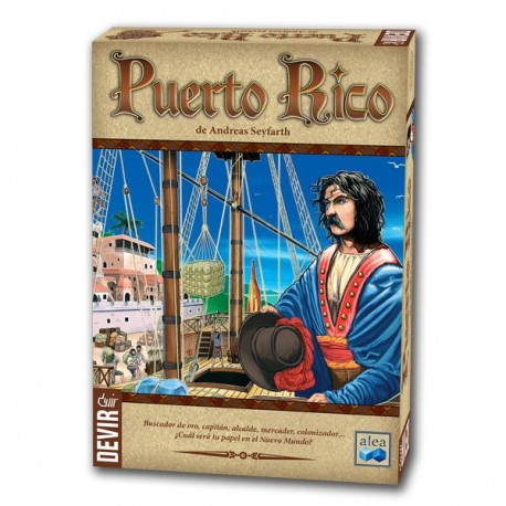 Box content PUERTO RICO, Fun and dynamic game for 2-5 players where quick thinking and able to adapt to the actions...