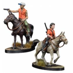 The Walking Dead: All Out War -Maggie and Glenn on Horseback - EN