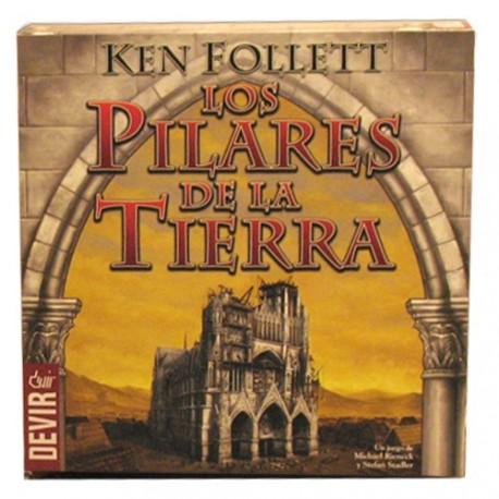 Caja del juego de mesa de Los Pilares de la Tierra de Ken Follett