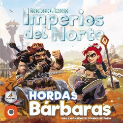 Expansion Barbarian Hordes from the game Settlers of the Empire Northern Empires from Maldito Games