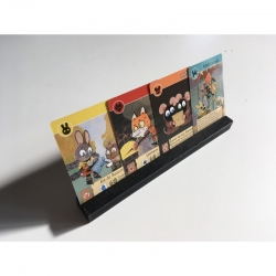 Letter Stands - Root Design for board game Root in Spanish from 2Tomatoes Games