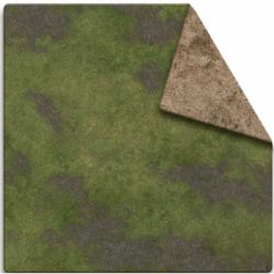 MFF - 3x3 Game Mat - Broken Grassland / Desert Scrubland Adventure Grid