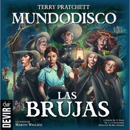 """WITCHES by Terry Pratchett, a table game Based on one of the most popular sagas of fantastic literature (""""Discworld"""")"""