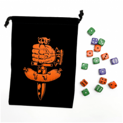Dungeon Degenerates Dice Bag and Dice