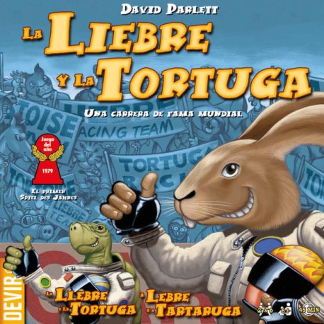 Board game The Tortoise and the Hare. World famous racing game box content