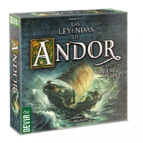First big expansion of Legends game Andor, Journey North board