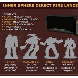 BattleTech Inner Sphere Direct Fire Lance - EN