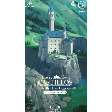Secrets and Evenings expansion of the board game Between Two Castles of Mad King Ludwig from the brand Maldito Games