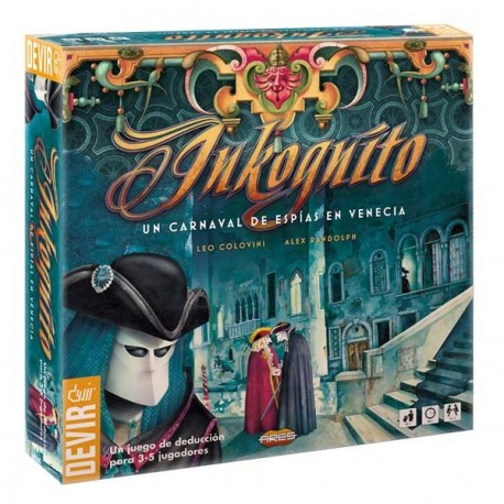 Inkognito, a spy carnival in Venice board game