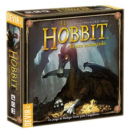 Board and chip board game The Enchanted Hobbit gold for two people