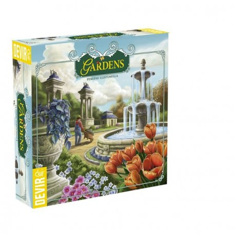 In Gardens, players create together a wonderful garden, but each should try your favorite flower color. Box content