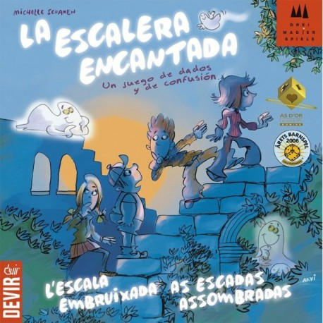 Encantada Ladder board game in which you have to be the fastest to reach the end. Box content