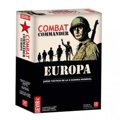 Combat Commander: Europe is a board game covering infantry combat in Europe during WWII. box content