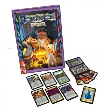 Expansión disponible para el juego de estrategia Dominion Alquimia