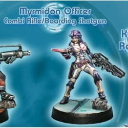 Aleph - Myrmidon Officer (combi Rif+boarding Gun)