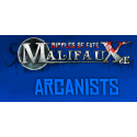 Arcanist, all available products from the Wyrd miniatures game