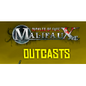 Outcasts, all available products from the Wyrd miniatures game