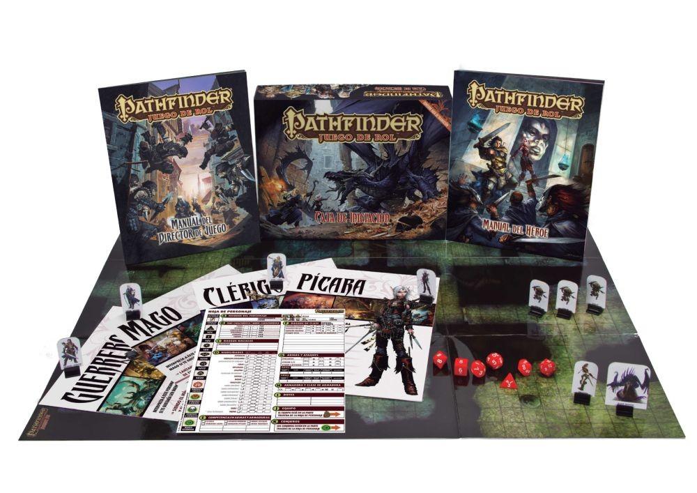 Caja de iniciación del juego de rol Pathfinder