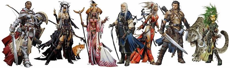Personajes juego de rol Pathfinder