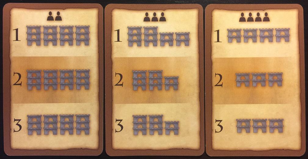 Cartas de fases del juego de mesa Torres de Devir