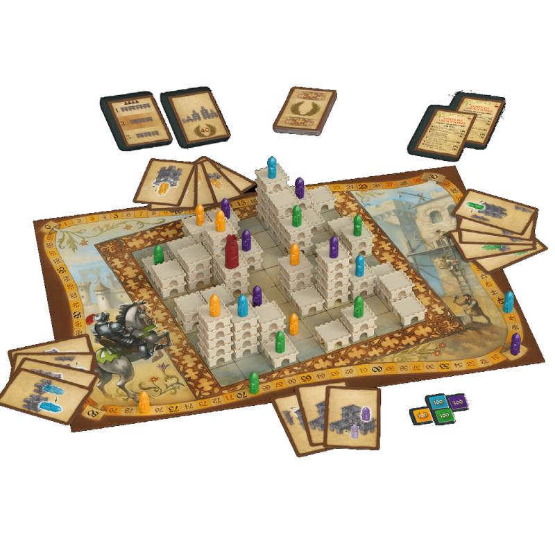 Tablero juego de mesa Torres de construcción de Devir