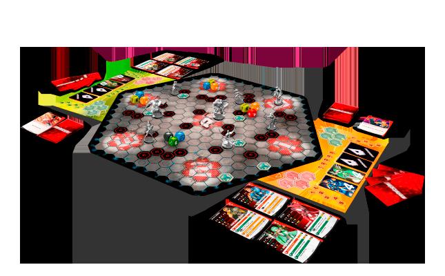 Tablero completo juego de mesa de miniaturas Aristeia de Corvus Belli