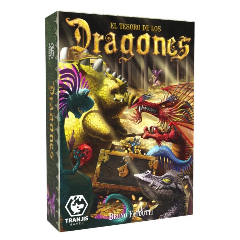 Caja del juego de cartas El Tesoro de los Dragones de Tranjis Games