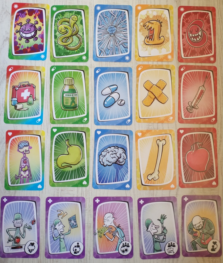 Virus juego de cartas ágil y rápido